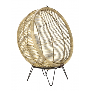 Sub foto Sillón Ball Chair de rattan natural